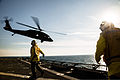 A U.S. Army UH-60 Black Hawk helicopter assigned to Alpha Company, 3rd Battalion, 142nd Aviation Regiment, 42nd Combat Aviation Brigade (CAB), New York Army National Guard takes off from the dock landing ship 131226-Z-AR422-458.jpg