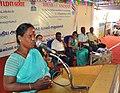A beneficiary of the Mahatma Gandhi National Rural Employment Guarantee Prog. sharing her experiences at the seminar on MGNREGA, at the Bharat Nirman Public Information Campaign, in Palani, Tamil Nadu on September 04, 2010.jpg