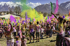 A celebration of Holi Festival of Colors, Utah United States 2013.jpg