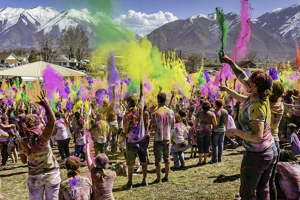 A celebration of Holi Festival of Colors, Utah United States 2013
