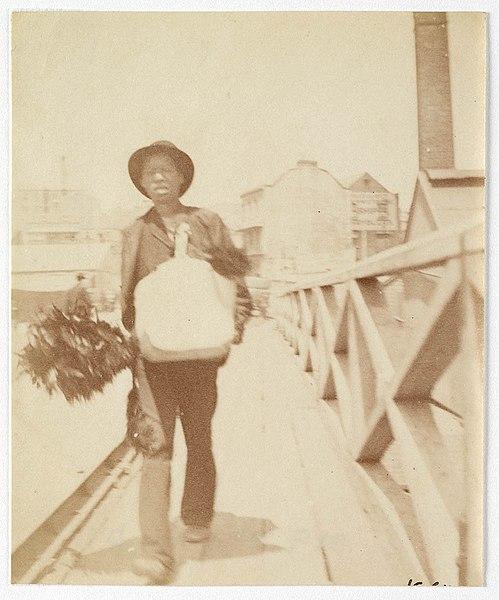 File A Chimney Sweep Walking Across Pyrmont Bridge