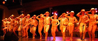 Lighting designer - The Broadway musical A Chorus Line was lit using conventional lighting instruments.