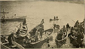 Pago Pago - Boatmen in Pago Pago, 1907.