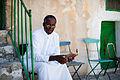 A priest outside Sepulchre.jpg