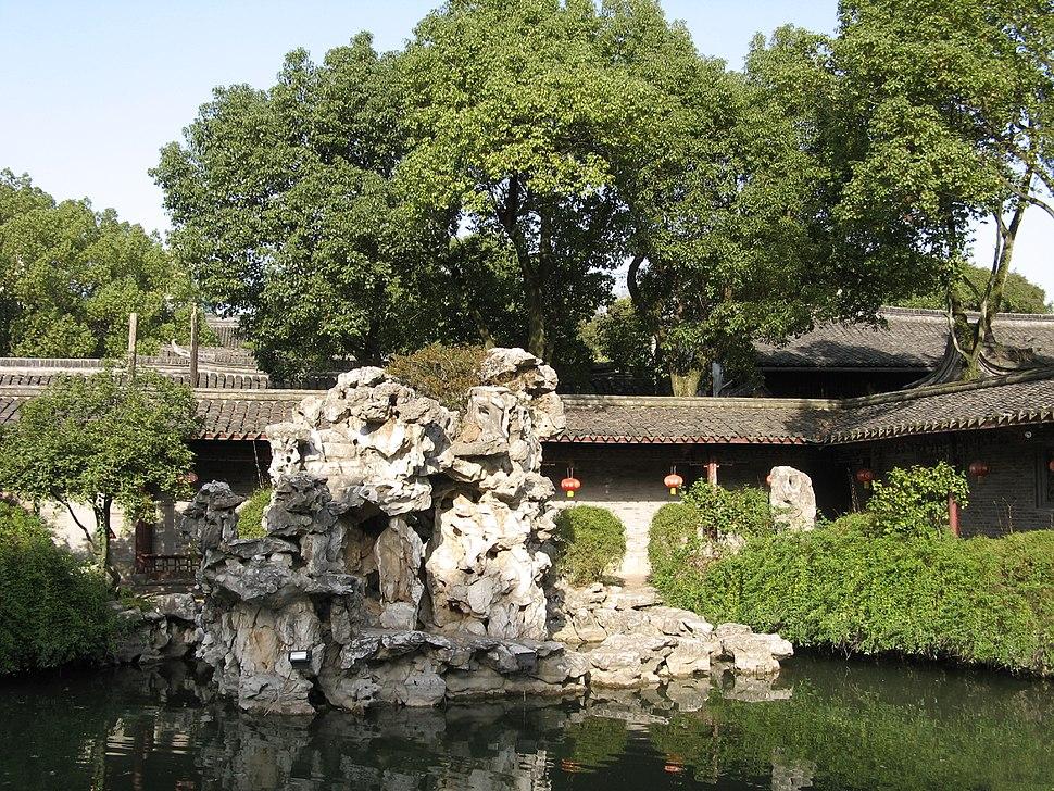 A rock garden inside Tianyi Chamber.JPG