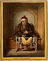 A sick man stranded on the toilet after taking a laxative. C Wellcome V0011192.jpg