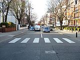 Original ABBEY ROAD photo corrected and cleaned with a Beetle car added (31 March 2007)