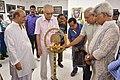 Abhoy Nath Ganguly Lighting Inaugural Lamp - 43rd PAD Group Exhibition Inauguration - Kolkata 2017-06-20 0350.JPG