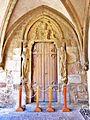 Abondance. La porte de la Vierge, dans le cloître. 2015-06-21.JPG