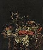 Abraham van Beijeren - Still Life with a Silver Pitcher - Google Art Project.jpg