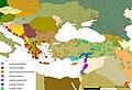 Abstammungslinien der Lacerta trilineata Gruppe nach Ahmadzadeh et al 2013.jpg