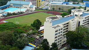 Anglo-Chinese Junior College - Aerial view of ACJC