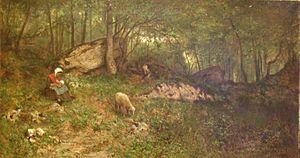 Adolphe Appian - Image: Adolphe Appian Le haut du bois des Roches à Rossillon 1870 2