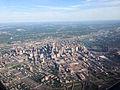 Aerial Minneapolis Skyline and Stadium Construction (17219479379).jpg