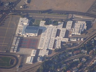 Las Cruces High School - Aerial view of the former LCHS Building