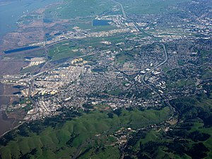 Martinez, California - Aerial view of Martinez
