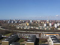 Aerial view over Malmö towards north taken from Söderkulla.jpg