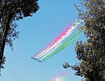 Aermacchi MB 339 AP.A.N. 'Frecce Tricolori' on the skies of Rome (2017).jpg