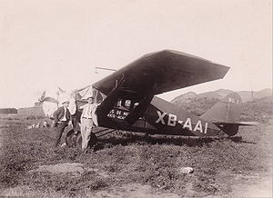 Aeroméxico - An early Bellanca aircraft of Aeroméxico, México City – Acapulco ca. 1935