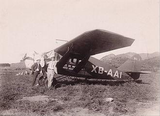 Aeroméxico - An early Bellanca aircraft of Aeroméxico, México City – Acapulco ca. 1935