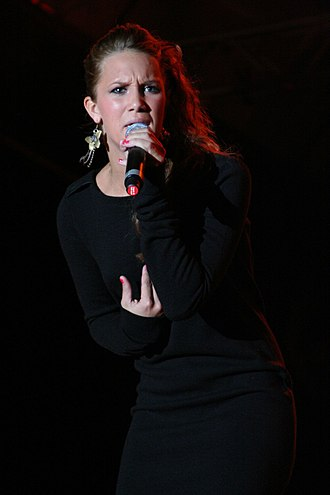 "Agnes Carlsson - Agnes during a performance at her national ""Agnes Live Tour"" in 2006"
