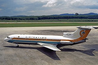 Air Ceylon - An Air Ceylon Hawker Siddeley Trident at Subang Airport in 1978.
