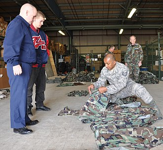 Pennsylvania Wing Civil Air Patrol - CAP volunteers collect uniforms donated to Delaware and Pennsylvania CAP units by the Delaware National Guard.