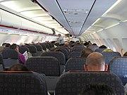 easyJet Airbus A319-100 cabin, in flight