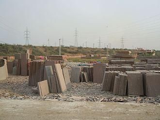 Kota, Rajasthan - Storage area of Kota Stone