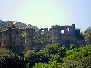 Akhtala - The eastern wall of Akhtala Fortress, dating back to the 10th century