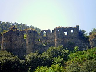Akhtala Monastery - The eastern wall of the fortress.