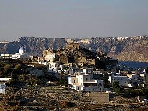 Akrotiri, Santorini - View of Akrotiri from the south.