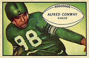 Al Conway - Conway on a 1953 Bowman football card