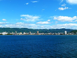 Puerto la Cruz - View of Puerto La Cruz from the Caribbean Sea