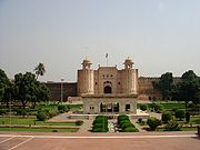 The Lahore Fort, was rebuilt by the Mughal emperor Akbar in 1566.