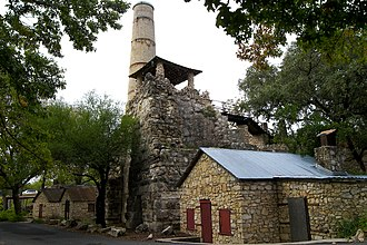 Roman cement - The Alamo Portland and Roman Cement Works, in Brackenridge Park, San Antonio, Texas, United States