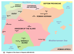 Alans - Kingdom of the Alans in Hispania (409–426 AD).