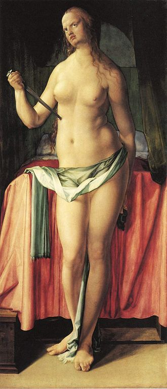 The Suicide of Lucretia (Dürer) - The Suicide of Lucretia, 168 x 75cm