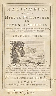 <i>Alciphron</i> (book) treatise by George Berkeley
