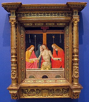 Alesso di Benozzo - Pietà (1490s) in the Geneva Museum of Art and History