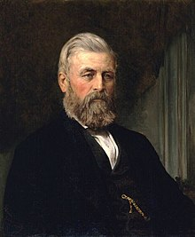 A painting of Alexander Gibson in 1870