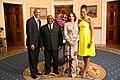 Ali Bongo Ondimba with Obamas 2014.jpg