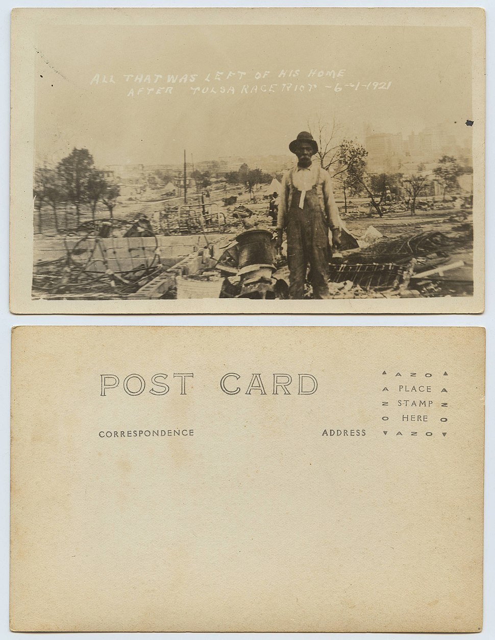 All That Was Left of His Home after the Tulsa Race Riot, 6-1-21 (Ag2013.0002)