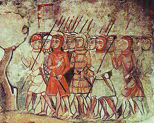 Byzantine army (Palaiologan era) - Catalan troops. Some 6,500 men went to fight for the Basileus in 1303