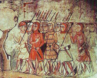 Villaggio medievale elmi dipinti xii secolo indice 07 1 1 for Aragonese cuisine