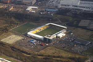 Almondvale Stadium - Aerial view of Almondvale