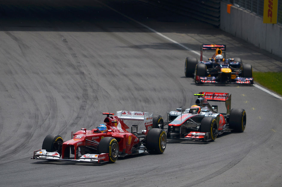Alonso, Hamilton and Vettel - 2012 Canadian Grand Prix