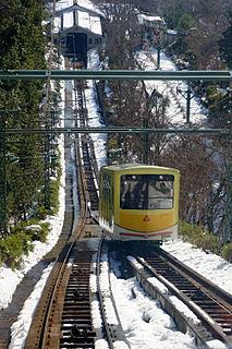 Amanohashidate Cable Car Japanese funicular line in Miyazu, Kyōto, Japan