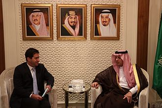 Lee S. Wolosky - Ambassador Lee S. Wolosky and Saudi Foreign Minister Adel al Jubier