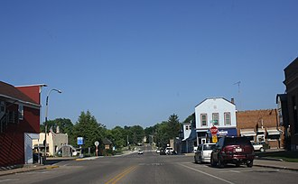 Amherst, Wisconsin - Image: Amherst Wisconsin Downtown Looking east